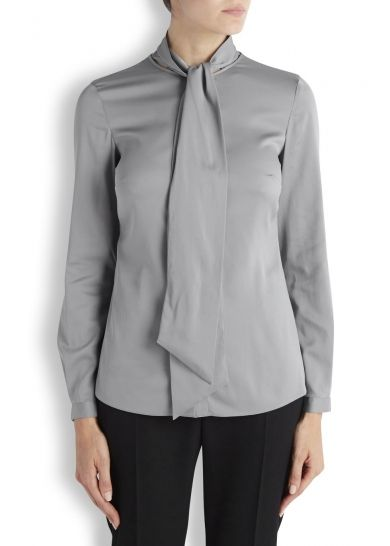 Grey satin blouse - New In