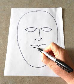 Art Therapy: Sharing Directives: Outside/Inside Masks
