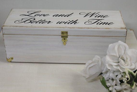 Wedding Ceremony Gift: Wedding Wine Box Rustic Keepsake Love Letter Ceremony