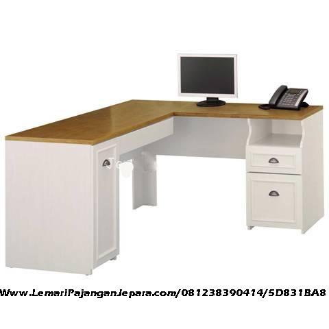 meja kantor minimalis sudut cat duco