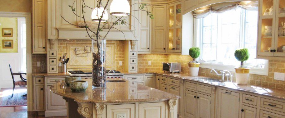 Tuscan Style Kitchen Inspired Designs White Cabinets With Marble Island Cabi Tuscany Design