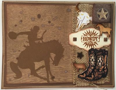 Wild West Blog Hop #judikins #boycard #DCWV stampin up a little something