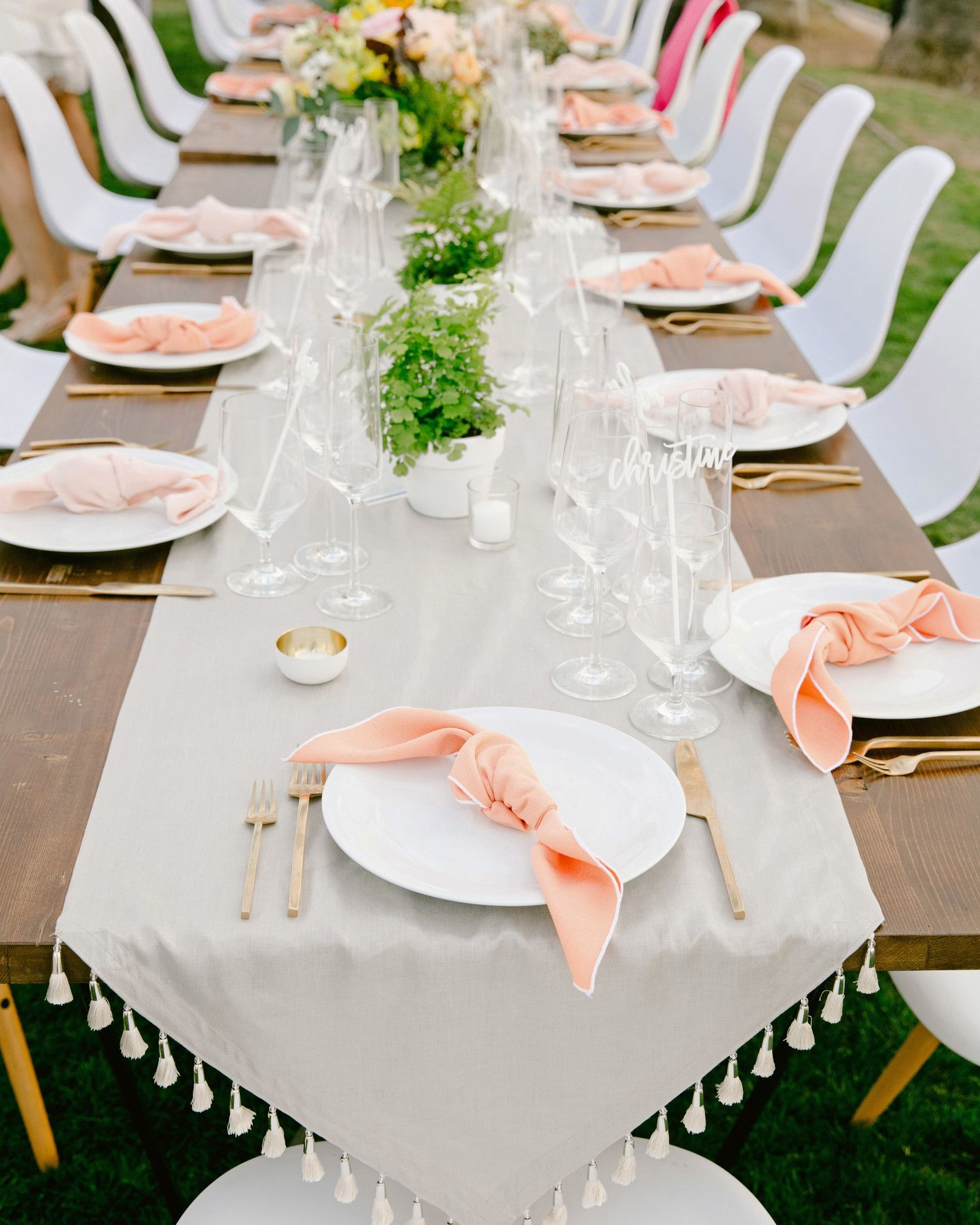 These Statement Linens Will Take Your Wedding Reception To