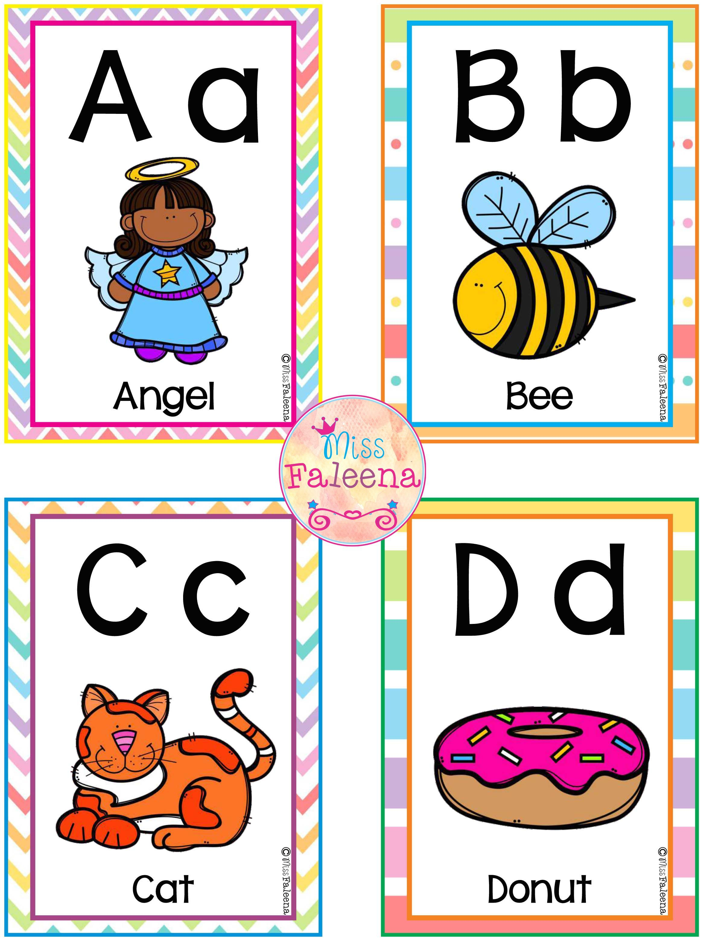 Free A Z Alphabet Flash Cards