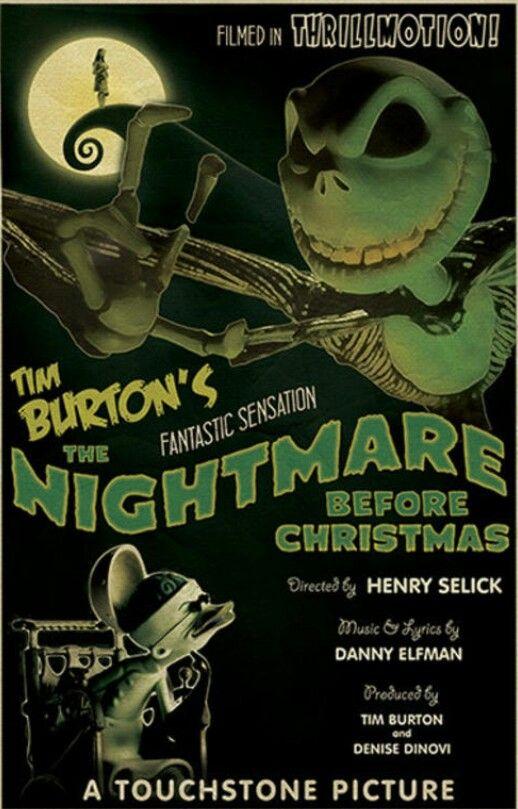 The Nightmare Before Christmas 1930's Retro by EhronAsher on