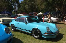 COOL BLUE: 1973 Porsche Carrera RS deservedly won best European Sports car at the Noosa Beach Classic Car Show.