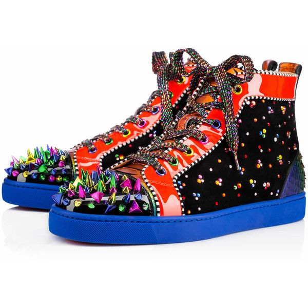 Christian Louboutin New No Limit Men's Flat ($2,645) ❤ liked on Polyvore featuring men's fashion