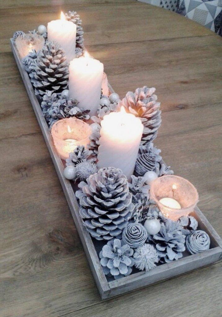 Beautiful DIY pine cone crafts for kids & adults! Best ideas to make free pinecone decorations & easy gifts from spring to fall & Christmas! - A Piece of Rainbow #pinecones #pineconecrafts #diy #homedecor home decor ideas, #diyhomedecor #thanksgiving #christmas #christmasdecor #crafts #fall #winter #farmhouse #vintage #farmhousestyle farmhouse, wedding, flowers #centerpiece Thanksgiving, table centerpiece #modpodge #craftsforkids