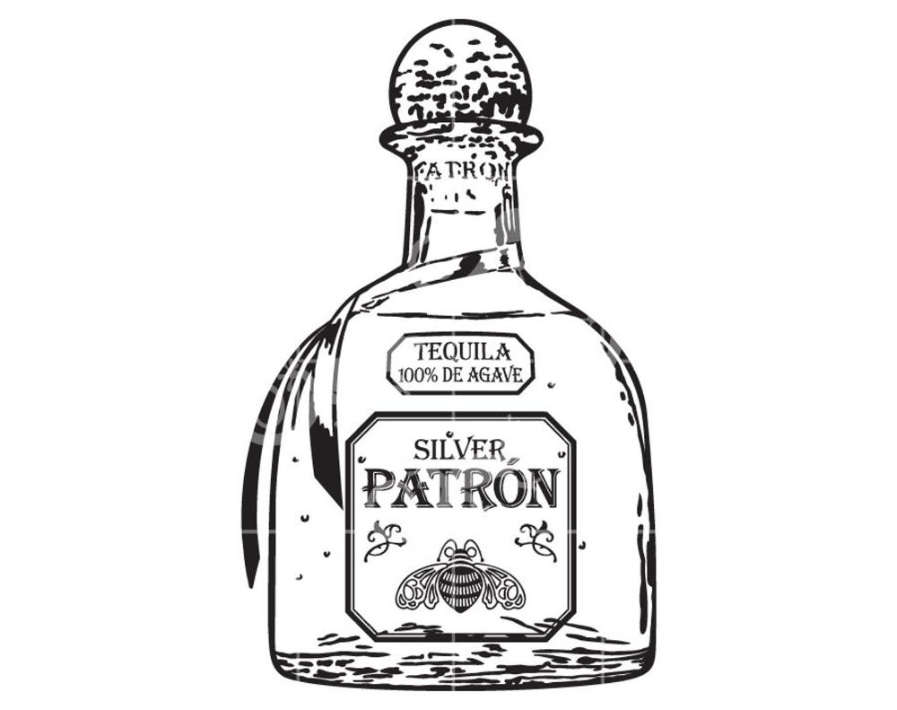 Patron Tequila Bottle Alcohol Svg Design Svg Design For Etsy Patron Tequila Bottle Tattoo Tequila Bottles