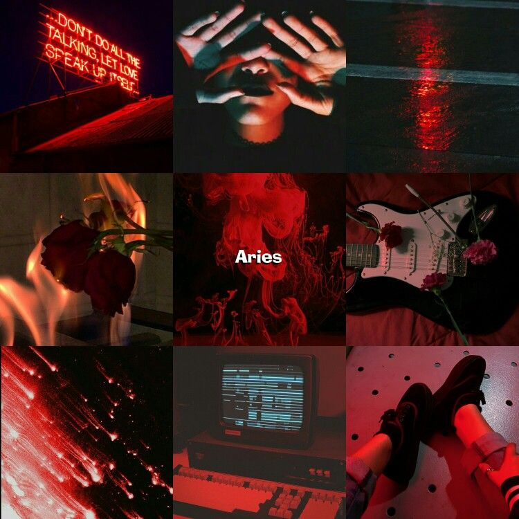 Aries Red Aesthetic Aries Aesthetic Celtic Zodiac Red Aesthetic