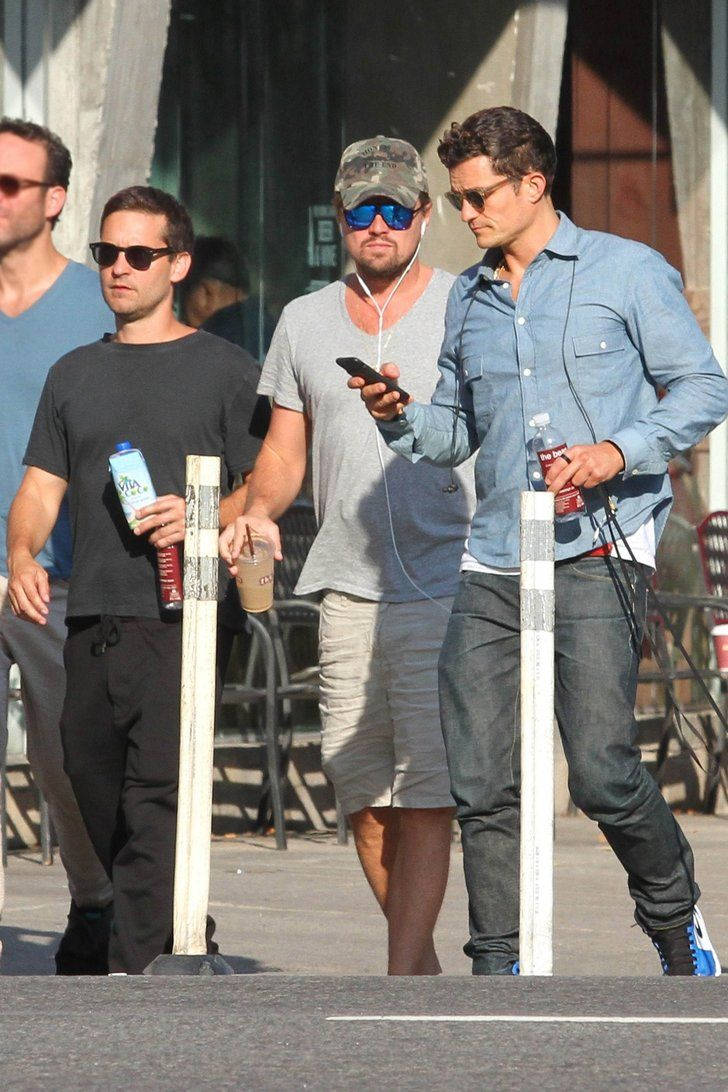 Leonardo Dicaprio Had A Dudes Day Out With Tobey And Orlando And