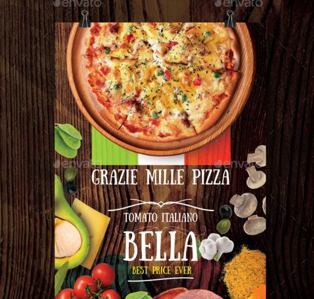 20 pizza flyer template psd for restaurant shop promotion and offers