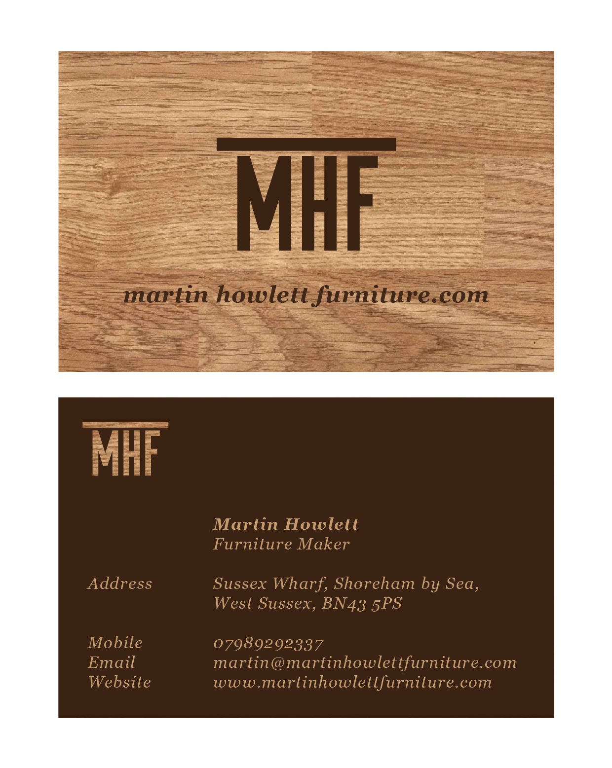 furniture maker business card idea capstone