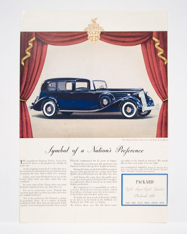 vintage car ads - Packard-my maiden name | Packard Car Ads ...