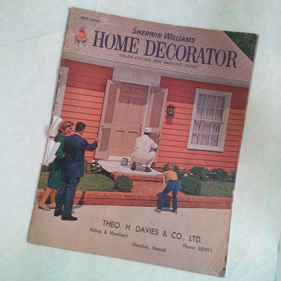 Vintage Retro 60s Home Decor Book   House Interior   Sherwin Williams Home  Decorator 1963 Edition