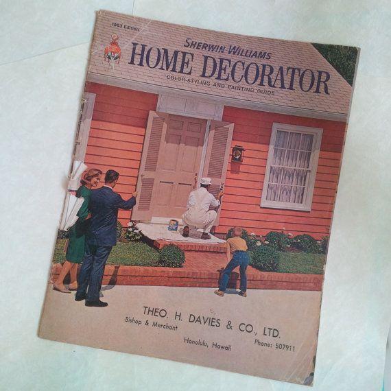 Vintage Retro 60s Home Decor Book   House Interior   Sherwin Williams Home  Decorator 1963 Edition