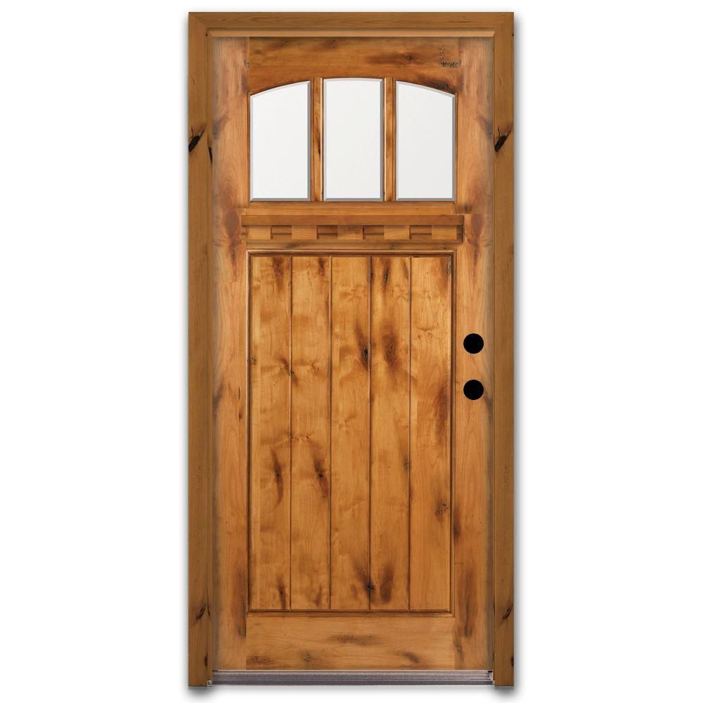 Home Depot Doors Exterior: Steves & Sons 36 In. X 80 In. Craftsman 3 Lite Arch