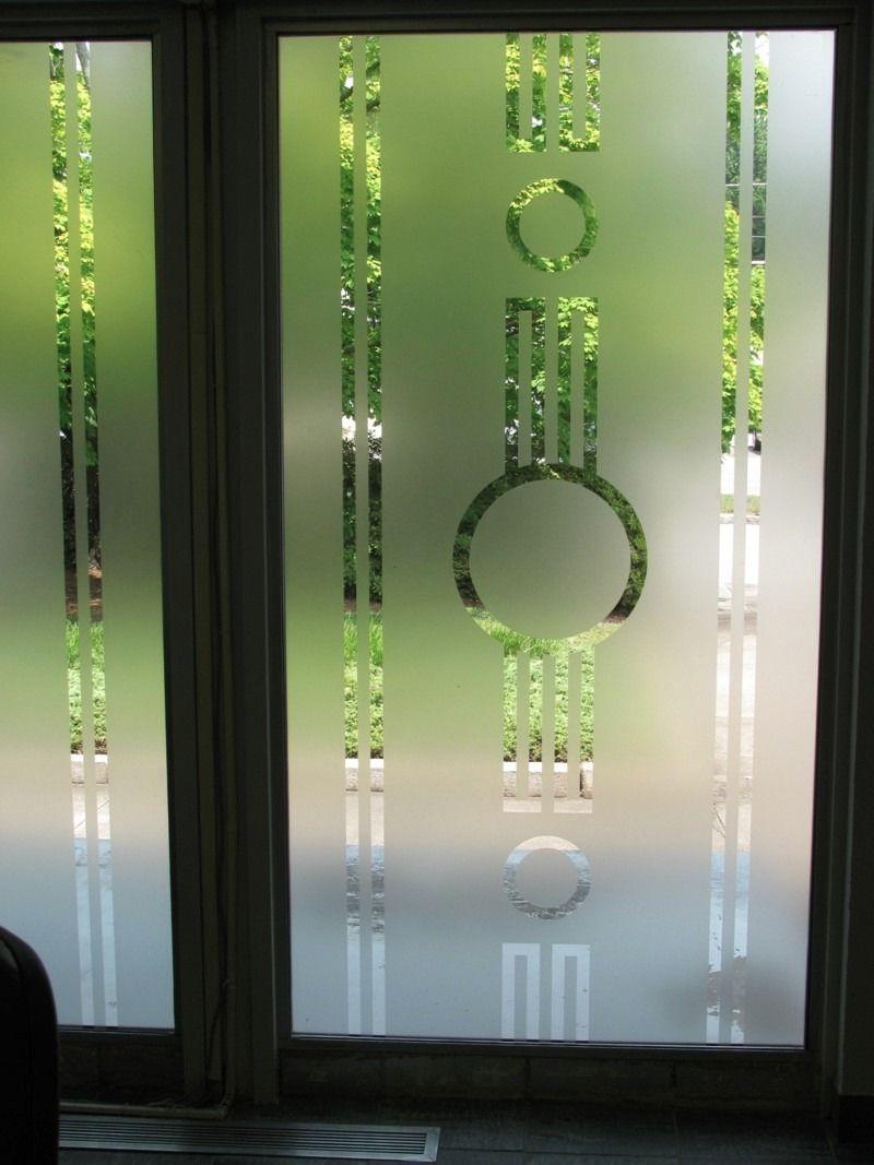 Puertas con vidrios esmerilados con vinilos con dise o for Puertas con vidrieras decorativas