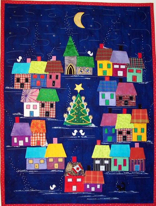 Advent Calendar Village Pattern by Lisa Girard Tivoli Quilt ... : advent calendar quilt - Adamdwight.com