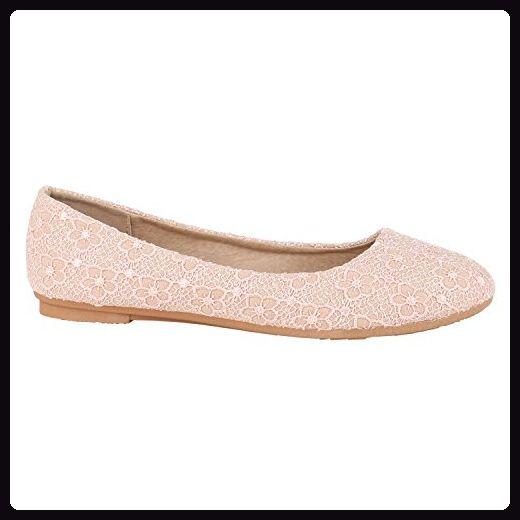 Klassische Damen Ballerinas Basic Flats Leder Optik| Slipper