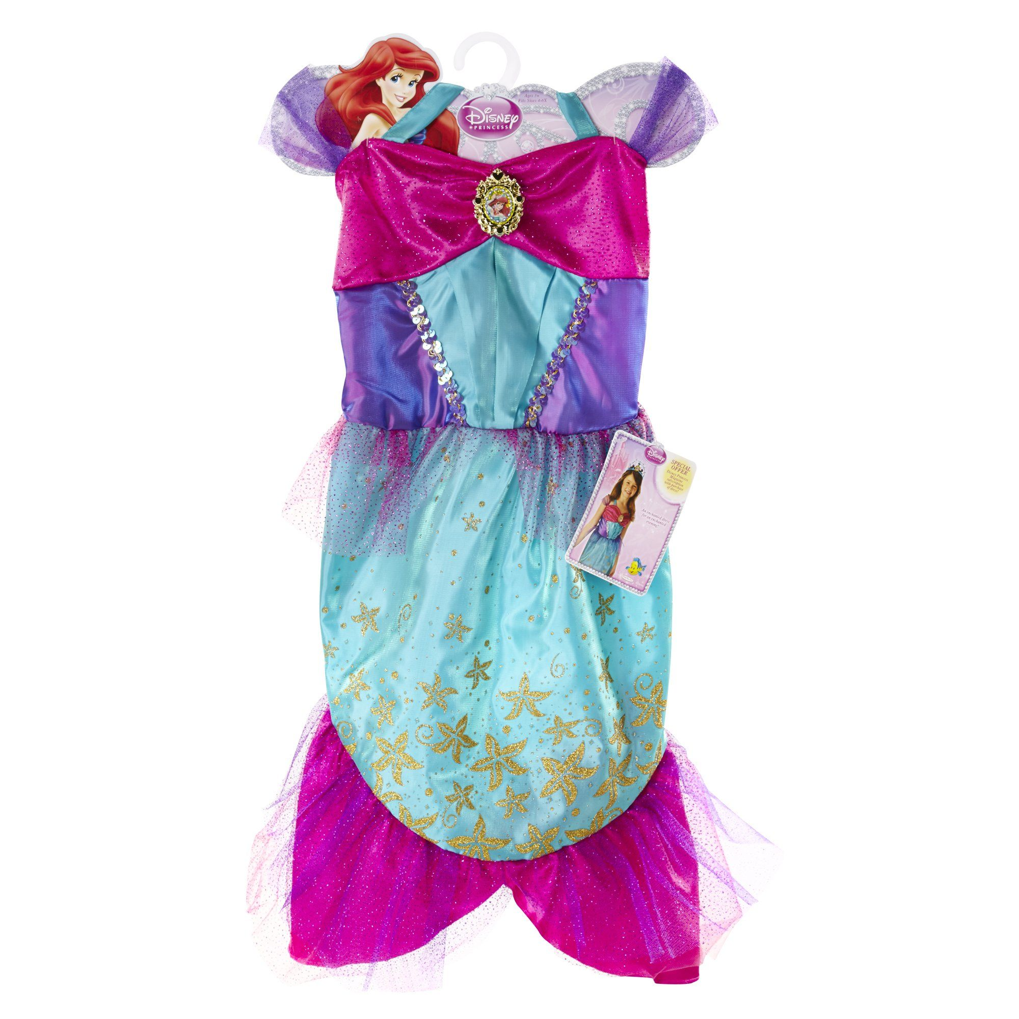 Amazon.com: Disney Princess Enchanted Evening Dress: Ariel: Toys ...
