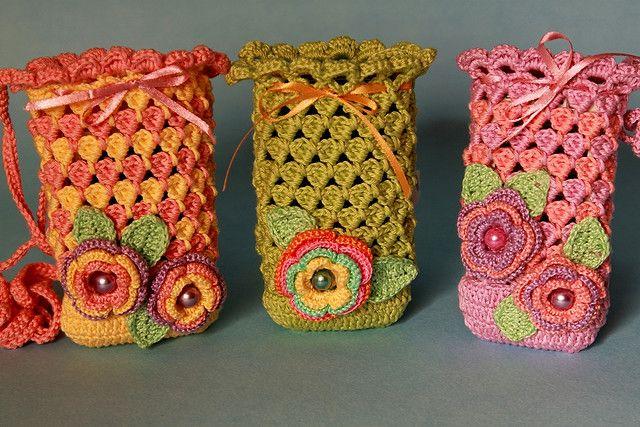 marca popular gran inventario mejor valor Crochet bolsitas para el celular.. | Bolsos de ganchillo