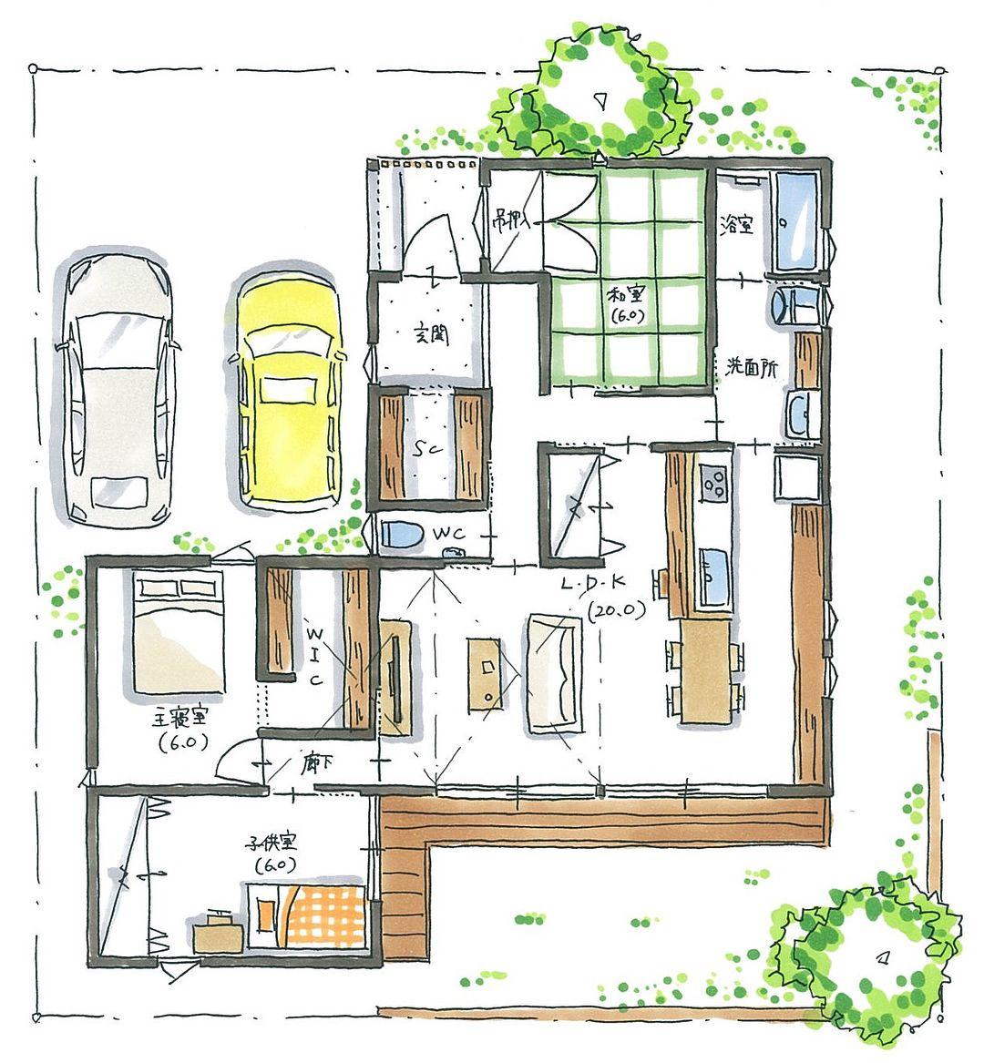 Plan おしゃれまとめの人気アイデア Pinterest Interior Architecture 間取り 30坪 間取り 和モダンな家 間取り