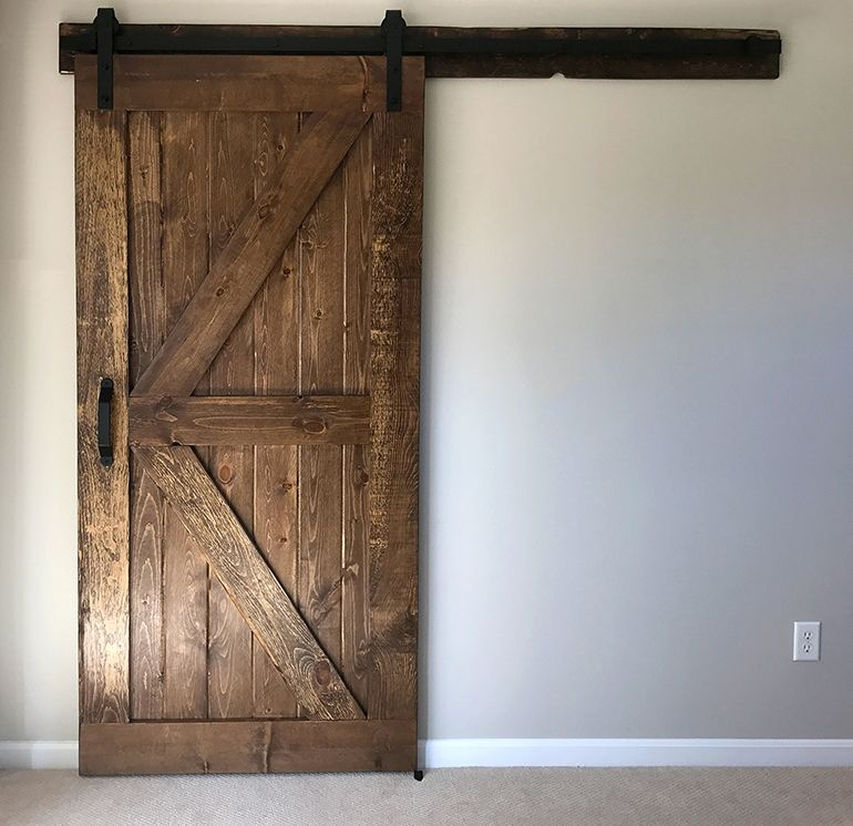 build and install a sliding barn door diywithrick diy furniture decor diy sliding barn. Black Bedroom Furniture Sets. Home Design Ideas