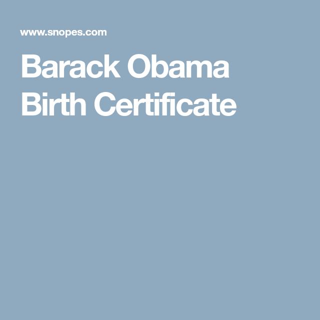 Fact Check Barack Obama Birth Certificate Barack Obama Birth