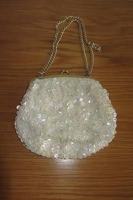 Bridal Handbags And Bags: Sweet Vintage 1950 S Small Ivory Bead And Sequin Purse Bag - Wedding Bridesmaid -> BUY IT NOW ONLY: $6 on eBay!