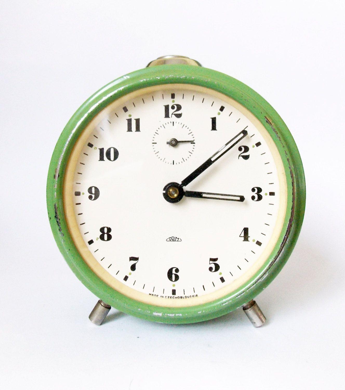 Lovely Vintage Alarm Clock Made In Czechoslovakia Prim Alarm