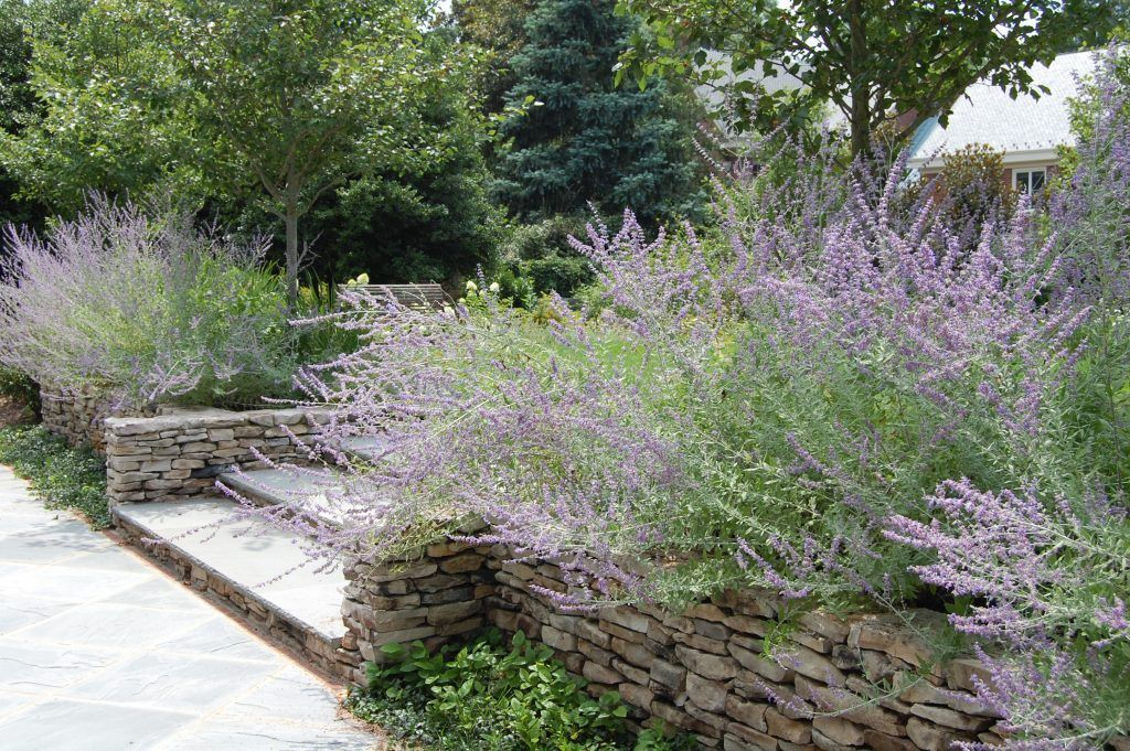 stone steps and stone wall Stone Terrace Pinterest