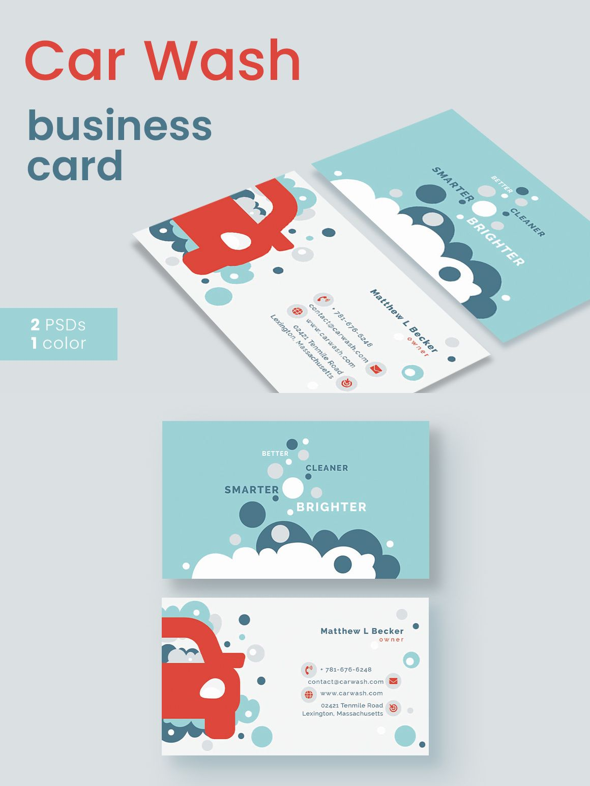 Car Wash Business Card Templates Cards Designs Visit