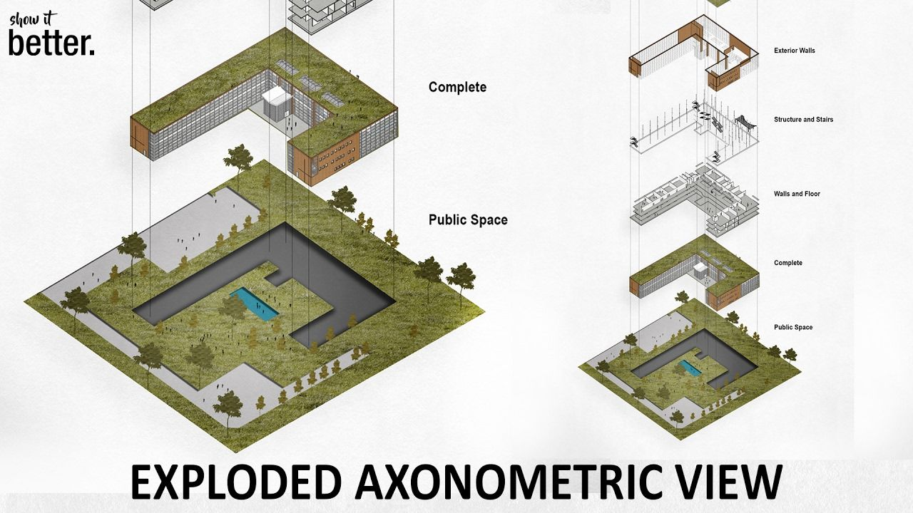 watched good exploded axonometric view in photoshop using good exploded axonometric view in photoshop using sketchup still a good reference for