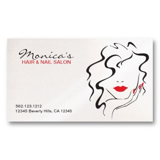 Elegant Hair Salon W Appointment Date Business Card - Hair salon business card template