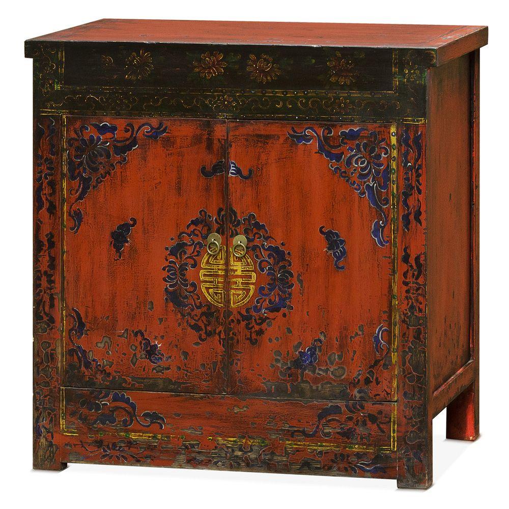 Elmwood Kitchen Cabinet Door Styles: Hand Painted Elmwood Tibetan Cabinet