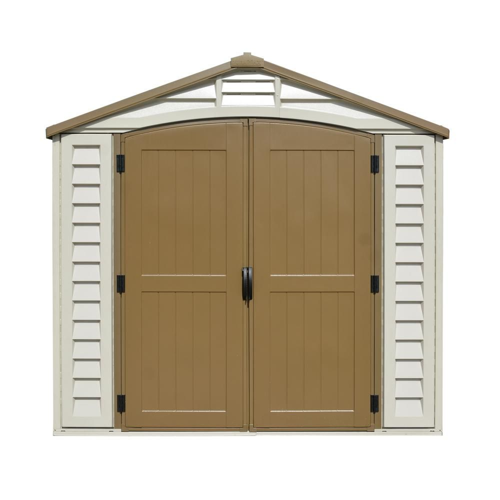 Duramax Building Products 8 Ft X 8 Ft Duraplus With Foundation 31114 Building A Storage Shed Vinyl Storage Sheds Shed