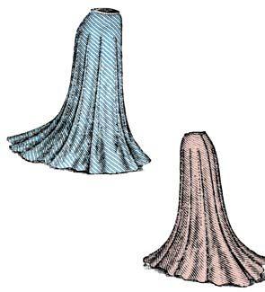 1900 Ladies' Darted Skirt