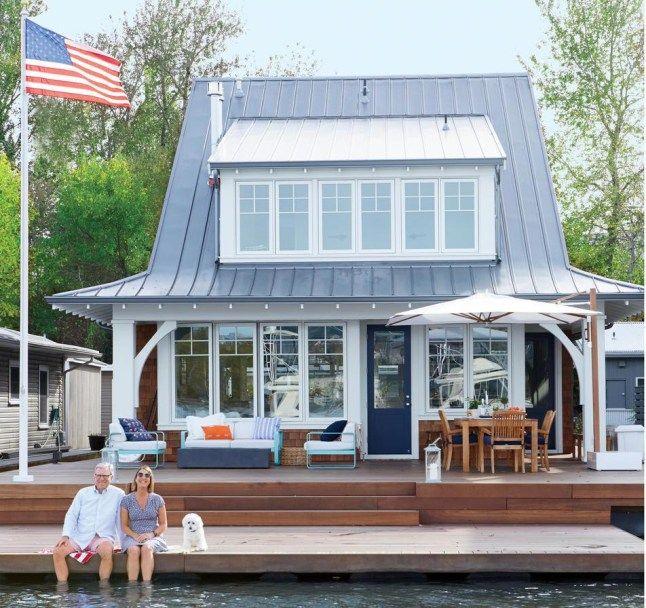Une maison flottante pour vivre en pleine nature | Maison flottante, Maison et Salons de maisons ...