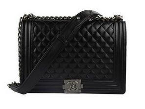 2c5fa1edc103 Wholesale Réplique Chanel A67026 noire en cuir d agneau Le Boy Flap Shoulde  - €195.64   réplique sac a main, sac a main pas cher, sac de marque   Chanel  boy ...
