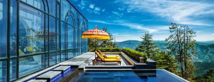 Wildflower Hall Shimla Himachal Pradesh India Pool View Best Luxury And Boutique Design Hotels To