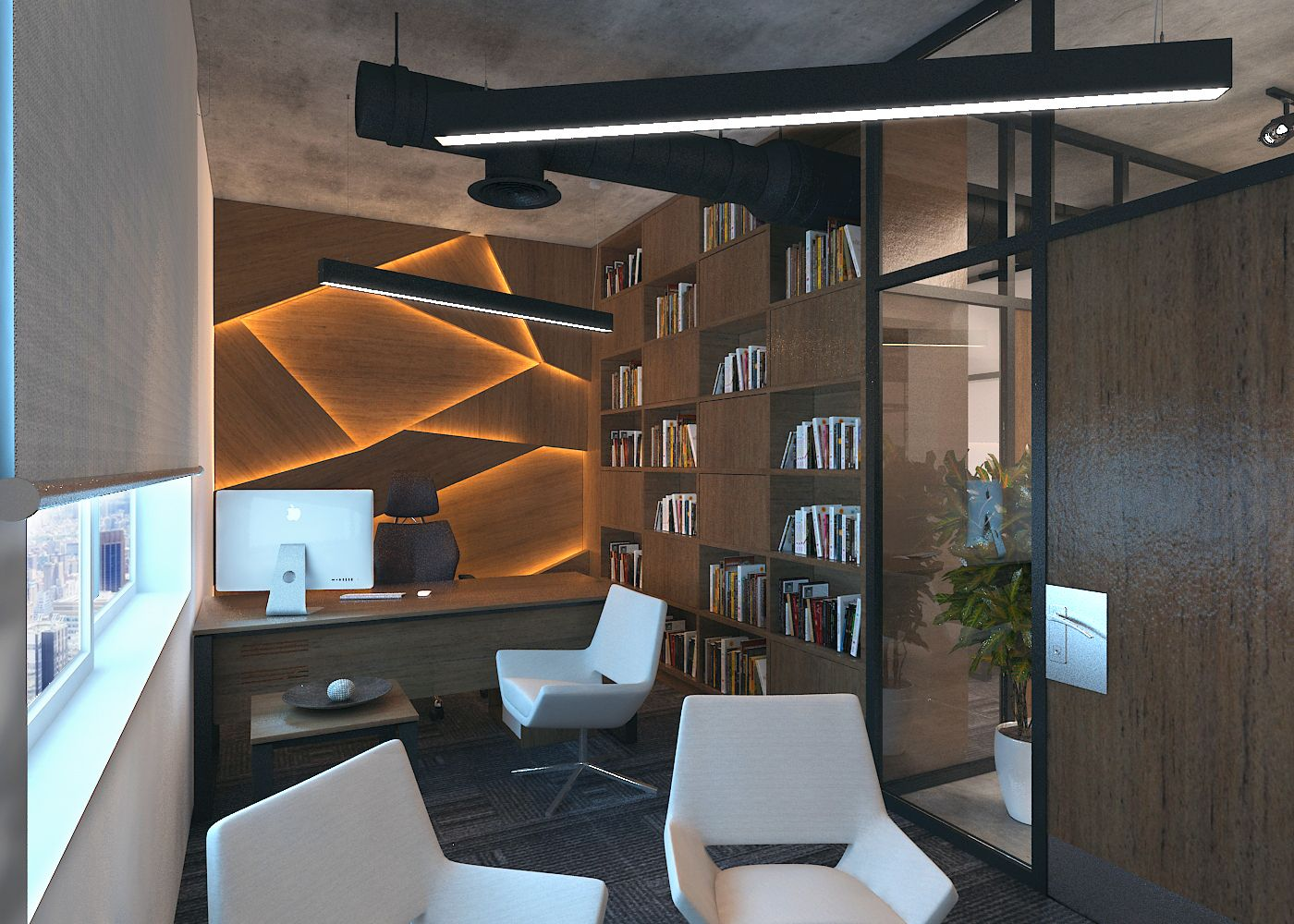 industrial office design. Industrial Design Small Space Office