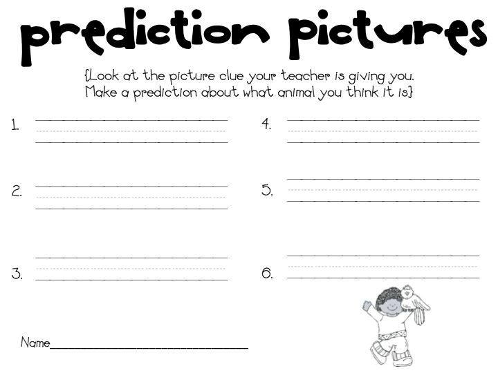 What the Teacher Wants Predicting Introduction Kinder and 1st – Making Predictions Worksheet