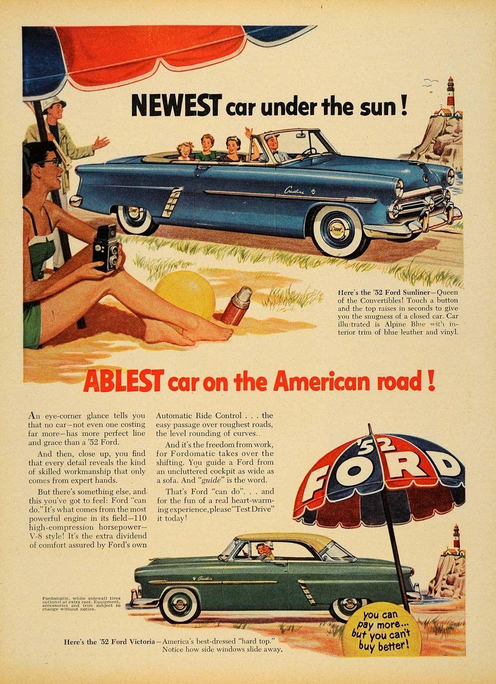 1952 Ford Crestline Sunliner 2-Door Convertible & 1952 Ford Crestline Victoria 2-Door Hardtop