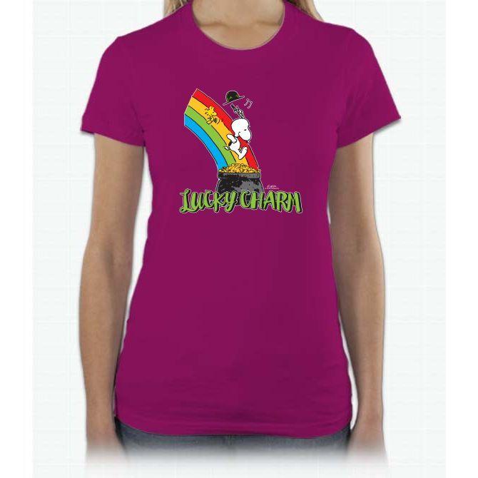Snoopy - Lucky Charm Short Sleeve Women T-Shirt