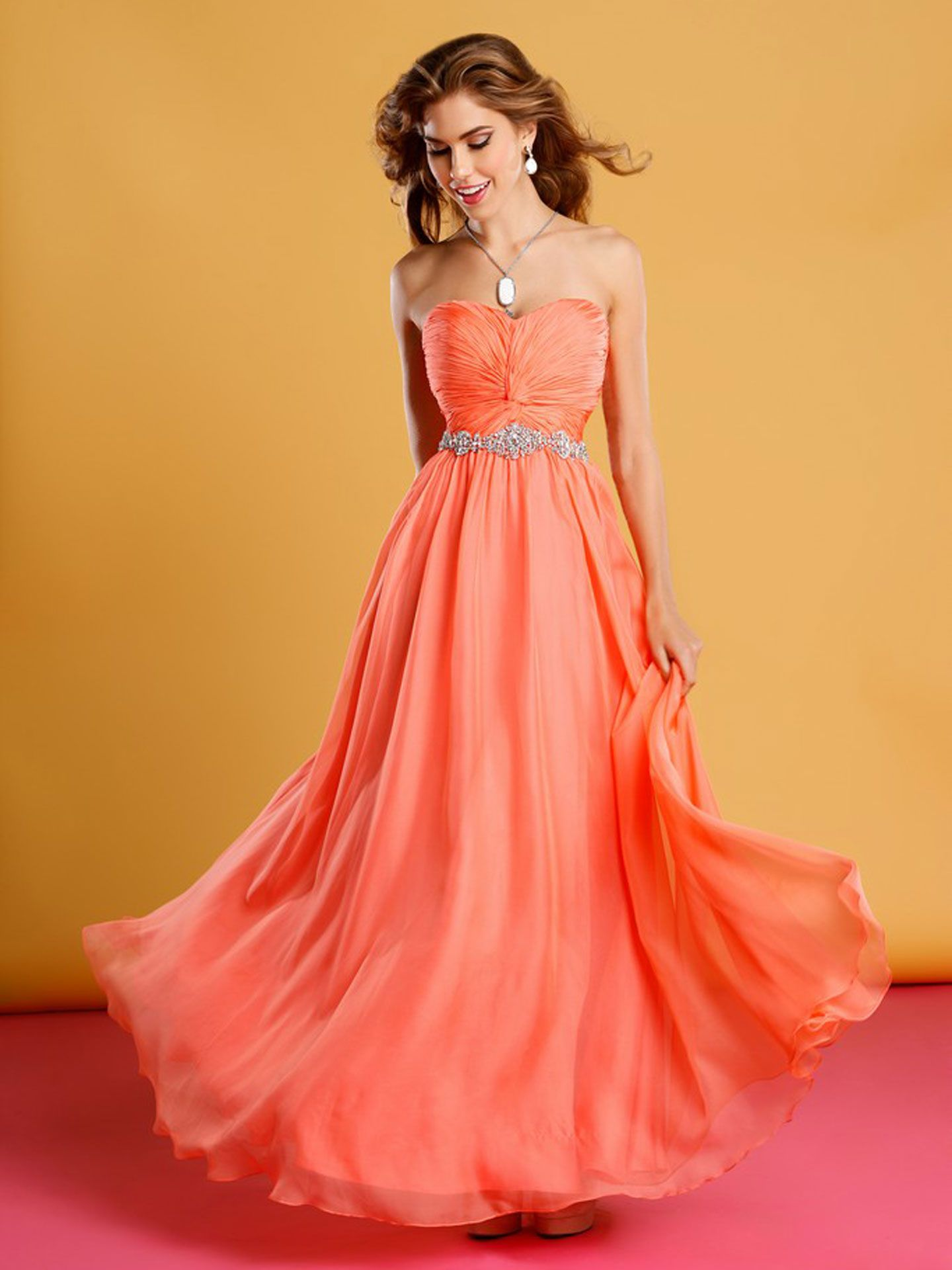 Yellow and Orange Prom Dresses! | Long prom dresses and Prom