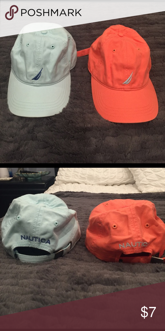c683c37a1f9 Light blue   Orange Nautica brand hats both hats in great condition! barely  ever worn! You get both hats for only  7 Nautica Accessories Hats