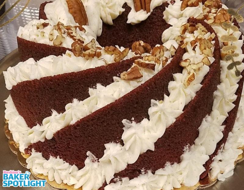 Red Velvet Rum Cake By Dorothy Rivers Baker Spotlight Rum Cake Cake Confectionary Sugar