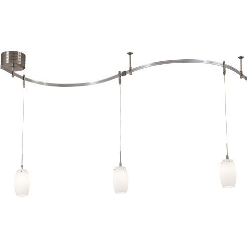 Kovacs lighting kov p8003 1 084 universal light kit brushed nickel brighten a home with this suspended opal glass pendant rail kit from george kovacs which offers flexibility and beauty each wide rail is cuttable and sciox Gallery