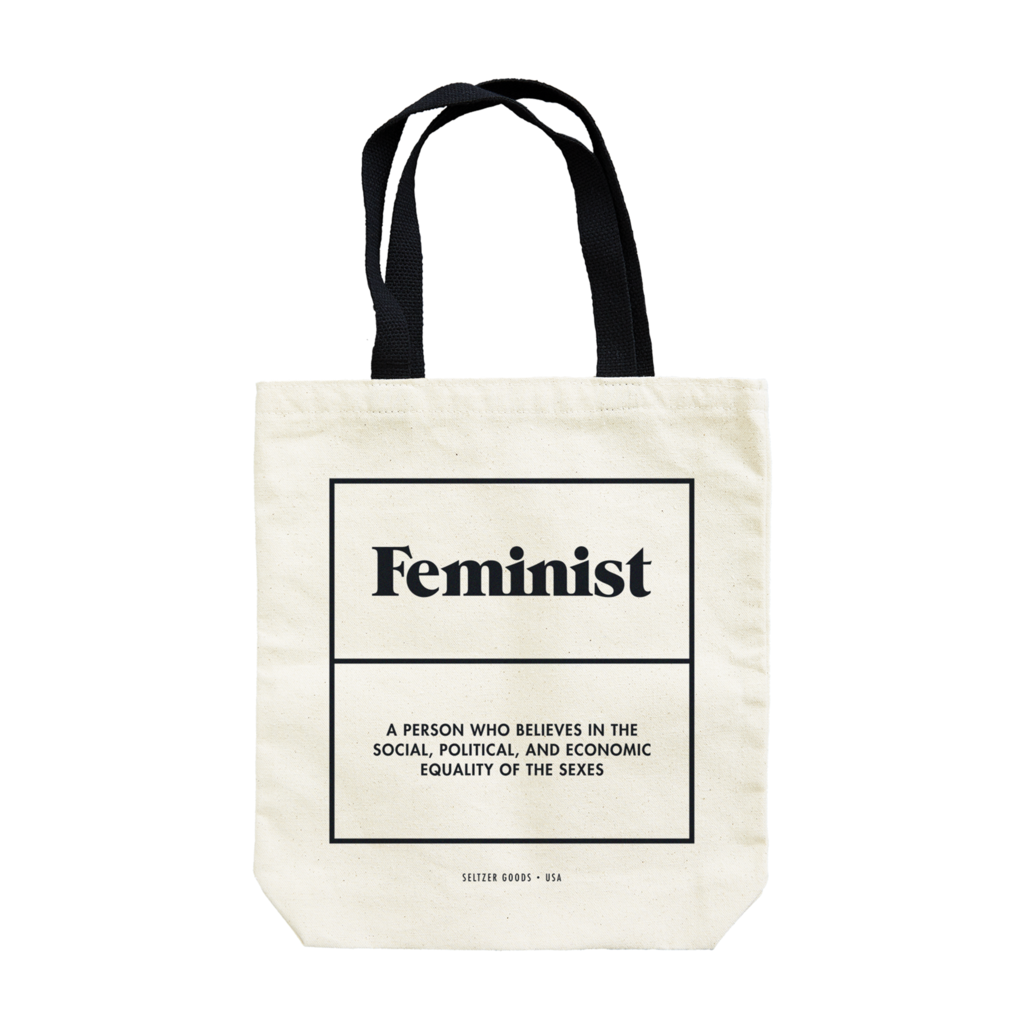 This Is What A Feminist Looks Like Large Canvas Shopper Bag Pink